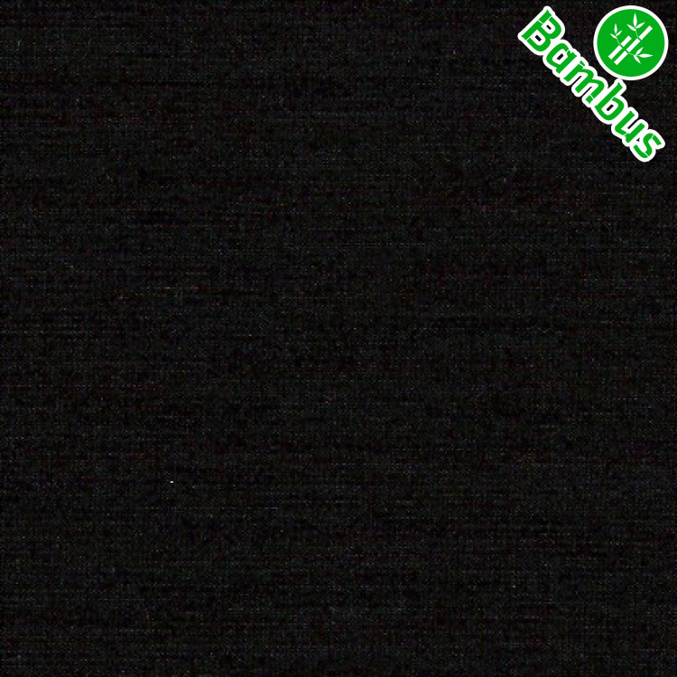 Jednolíc elastický BAMBUS vis. /8%Lycra černý